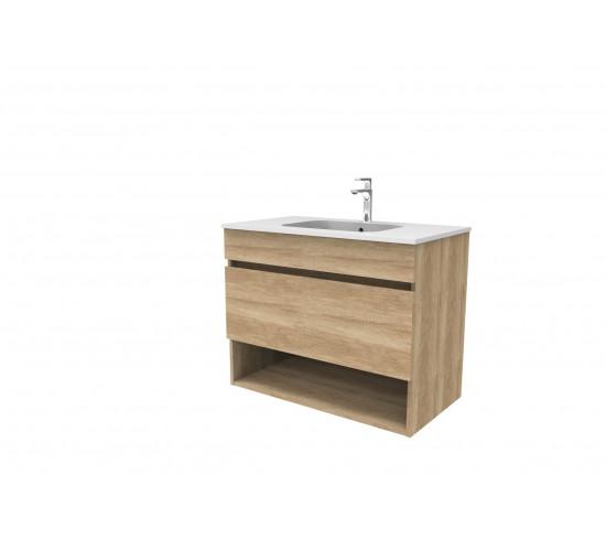 Kopalniška omarica z umivalnikom SMART -  Nebraska (hrast)