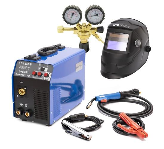 Varilni aparat MIG-250 IGBT + maska + ventil CO2/Argon