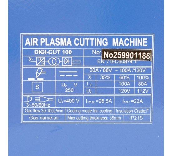 Plazma rezalnik CUT100