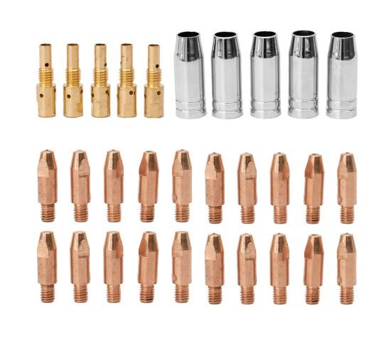 Set potrošnega materiala za MIG/MAG gorilnik MB25 - 30 delni
