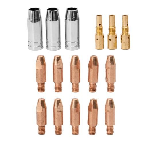 Set potrošnega materiala za MIG/MAG gorilnik MB25 - 16 delni