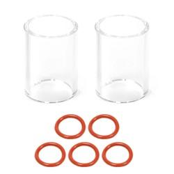 Dodatni stekleni šobi (2x) in tesnila (5x) za Gaslens pribor