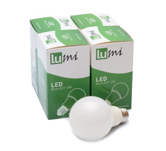 LED žarnica E27 12W toplo bela (4kos)