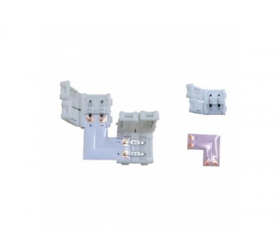 Kotni konektor za toplo in hladno bele trakove s priključkoma