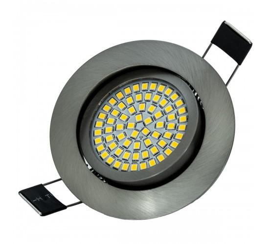 LED Ultra tanka vgradna luč 3,5W 230V 350lm 3200K krtačeno nerjavno jeklo