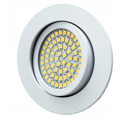 LED Ultra tanka vgradna luč 3,5W 230V 350lm 3200K - topla bela
