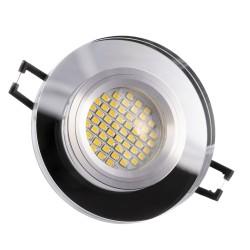 LED steklena vgradna svetilka SD1052 + žarnica GU10 3W toplo bela