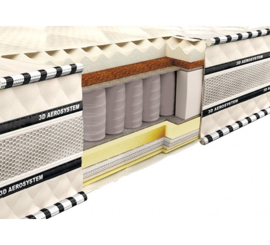 Vzmetnica 3D Magnat Memory-Latex-Cocos 180x190