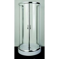 Polkrožna tuš kabina PRO-line s transparentnim steklom 100x86x185