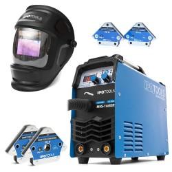 Varilni aparat IPOTOOLS MIG-160ER + Maska X800A + Varilni magneti