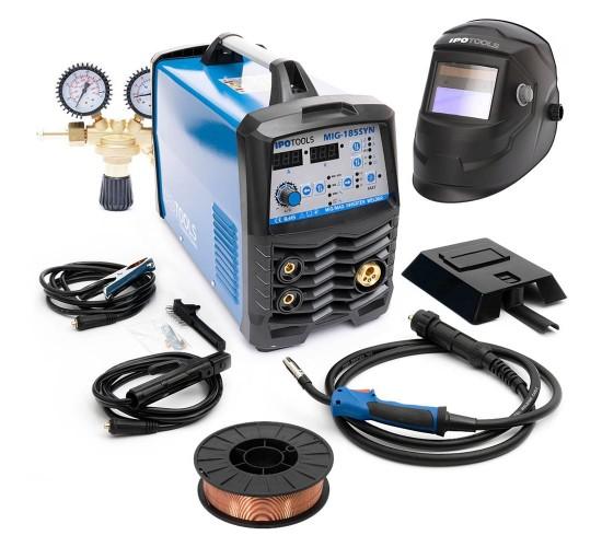 Varilni aparat IPOTOOLS MIG-185 Synergic + maska + ventil + žica 0,8mm