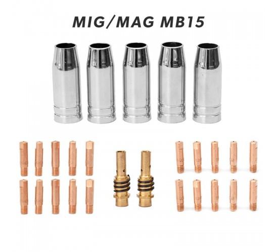 Set potrošnega materiala za MIG/MAG gorilnik MB15