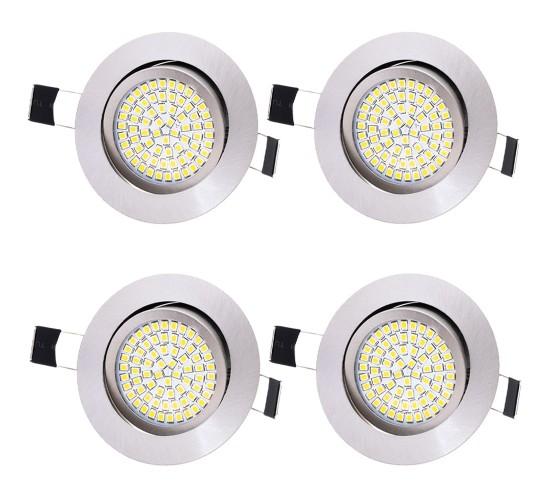 4x Ultra tanka LED vgradna luč 3.5W 230V 3200K toplo bela - KROM