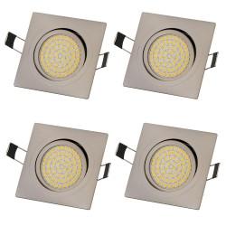 4x LED vgradna luč 3.5W 230V 3200K toplo bela
