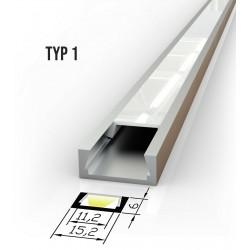 Alu profil za LED trakove - TIP 1 (15061) Slim