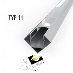 Alu profil za LED trakove - TIP 11 (1919F1)