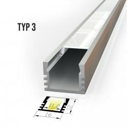 Alu profil za LED trakove - TIP 3 (16121)
