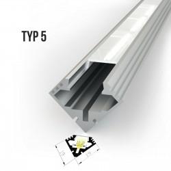 Alu profil za LED trakove - TIP 5 (19191)